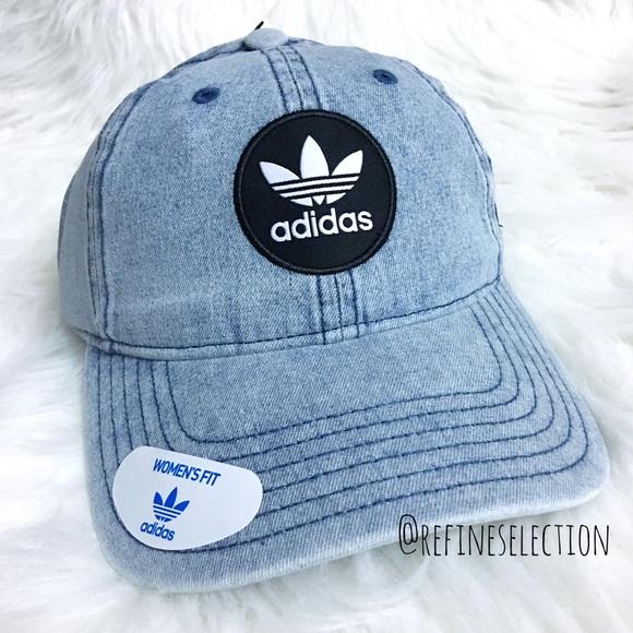 adidas Originals Washed Denim Patch Strapback Cap d5e01139059